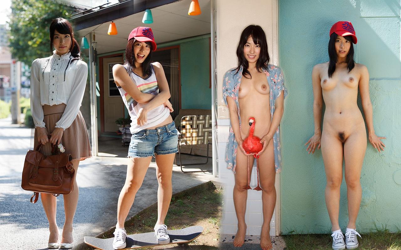 日本人女性の着衣時とヌードの比較