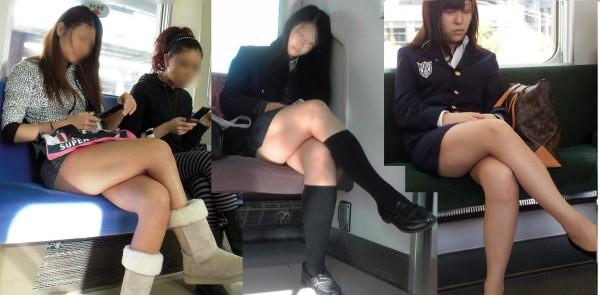 電車内盗撮のエロ画像18
