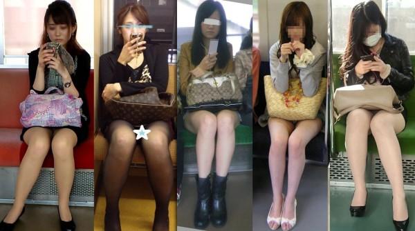 電車内盗撮のエロ画像17