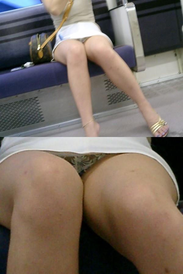 電車内ミニスカパンチラ04