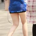 【街撮りエロ画像】街中でミニスカお姉さんを見つけたので美脚をガン見www