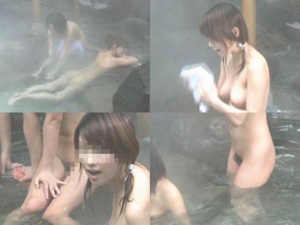 露天風呂を盗撮カメラで接写15