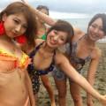 【素人水着エロ画像】夏が終わっちゃうけど、やっぱり水着ギャルはエロいスケベ画像