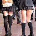 【JK街撮り】街中で女子校生の張りが良さそうな生脚エロ画像まとめ!!!