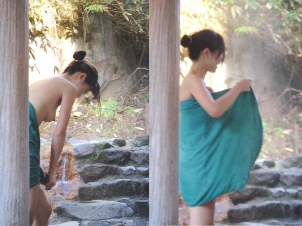 露天風呂を覗きたくなるエロ画像18