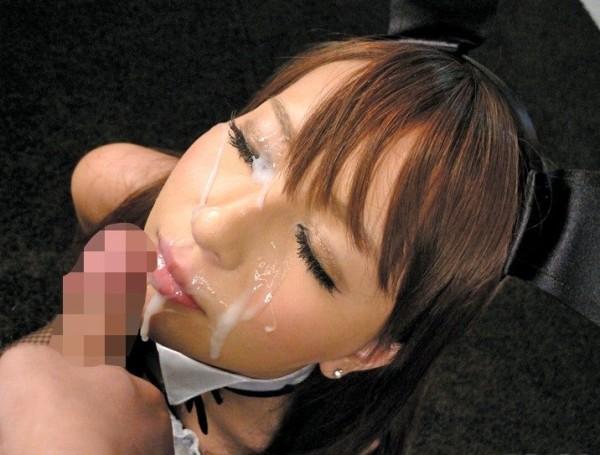 顔射された女が悲惨すぎるエロ画像18