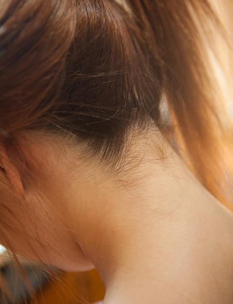 フェロモン漂う美女のうなじのエロ画像15