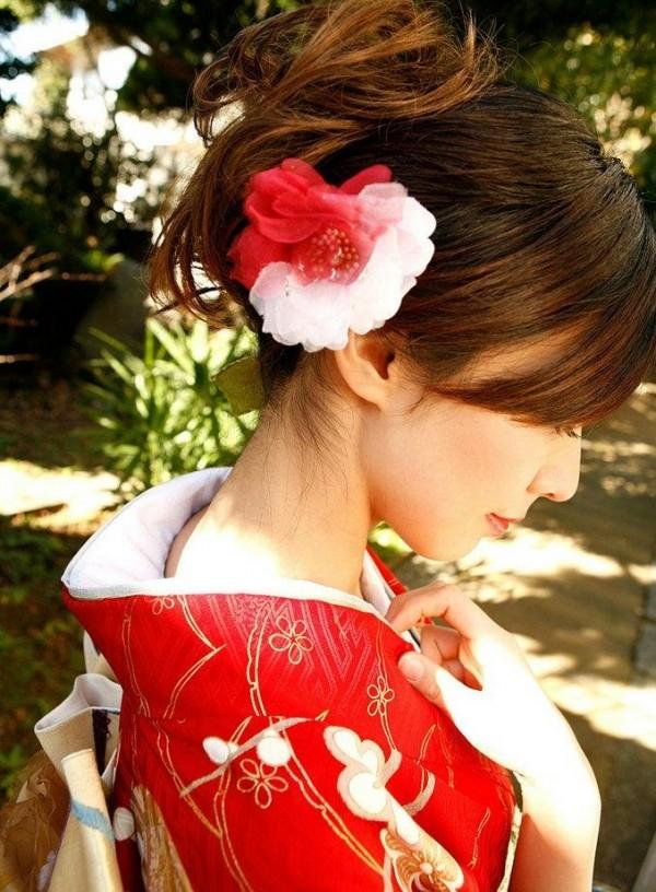 フェロモン漂う美女のうなじのエロ画像07