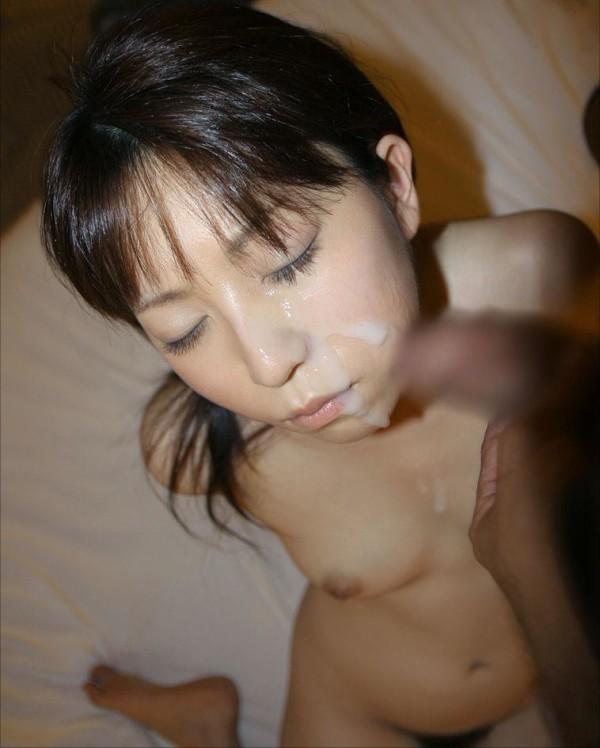 ぶっかける顔面射精エロ画像08
