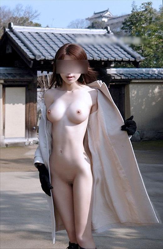 露出素人エロ画像3