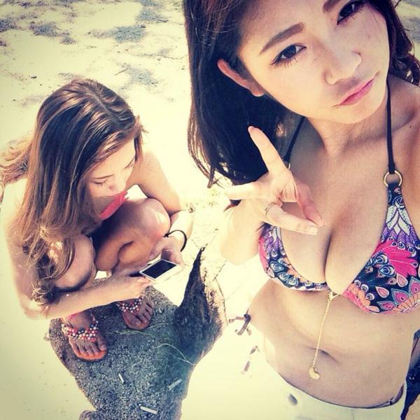 素人-女子大生-JD-水着-ビキニ-おっぱい-エロ画像13